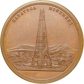 (c.1877) HK-119A BATTLE OF SARATOGA SC$1 MS reverse
