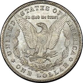 1880 CC $1 MS reverse