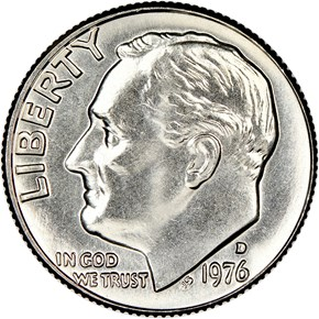 1976 D 10C MS obverse