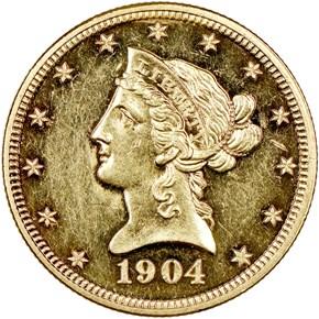 1904 $10 PF obverse
