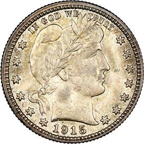 1915 25C MS obverse