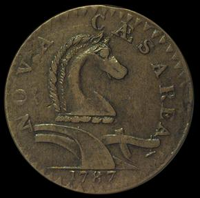 1787 SERPENT HEAD NEW JERSEY MS obverse