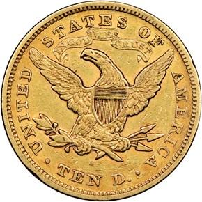 1870 S $10 MS reverse