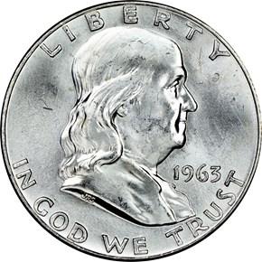 1963 D 50C MS obverse