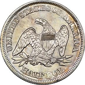 1857 50C MS reverse