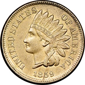 1859 1C MS obverse