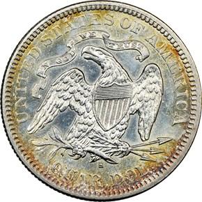 1876 S 25C MS reverse