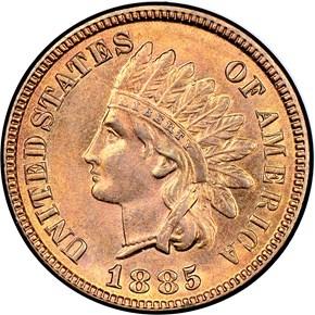 1885 1C MS obverse