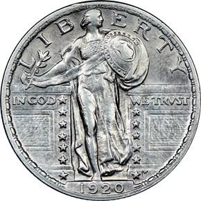 1920 25C MS obverse