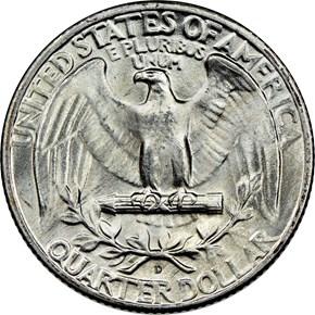 1946 D 25C MS reverse