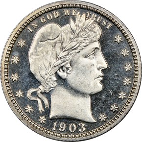 1903 25C PF obverse