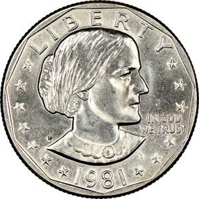 1981 P $1 MS obverse