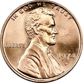 1974 D 1C MS obverse