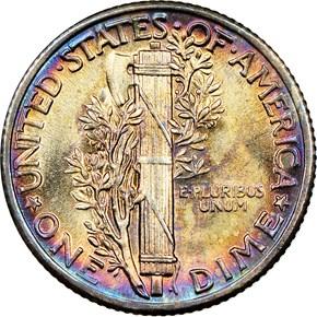 1936 10C MS reverse