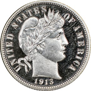 1913 10C PF obverse