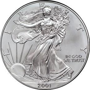 2001 EAGLE S$1 MS obverse