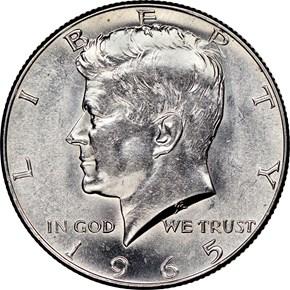 1965 50C MS obverse