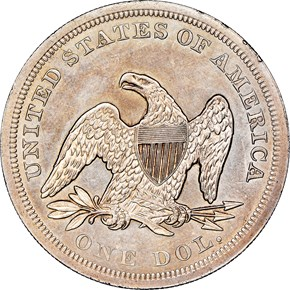 1850 $1 MS reverse