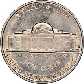 1962 D 5C MS reverse