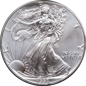 1995 EAGLE S$1 MS obverse