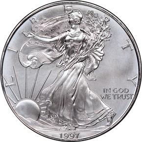 1997 EAGLE S$1 MS obverse
