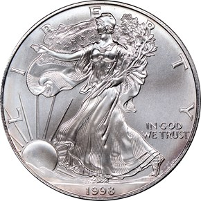 1998 EAGLE S$1 MS obverse