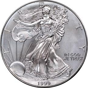 1999 EAGLE S$1 MS obverse