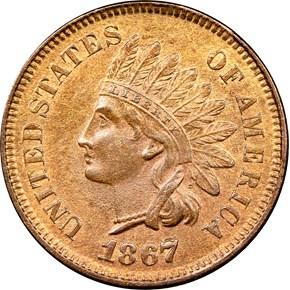 1867 1C MS obverse