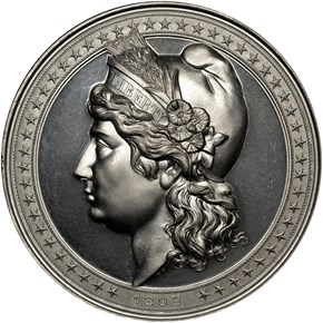 1892 E-101, AL LIBERTY HEAD HIGH RELIEF 90mm MS obverse