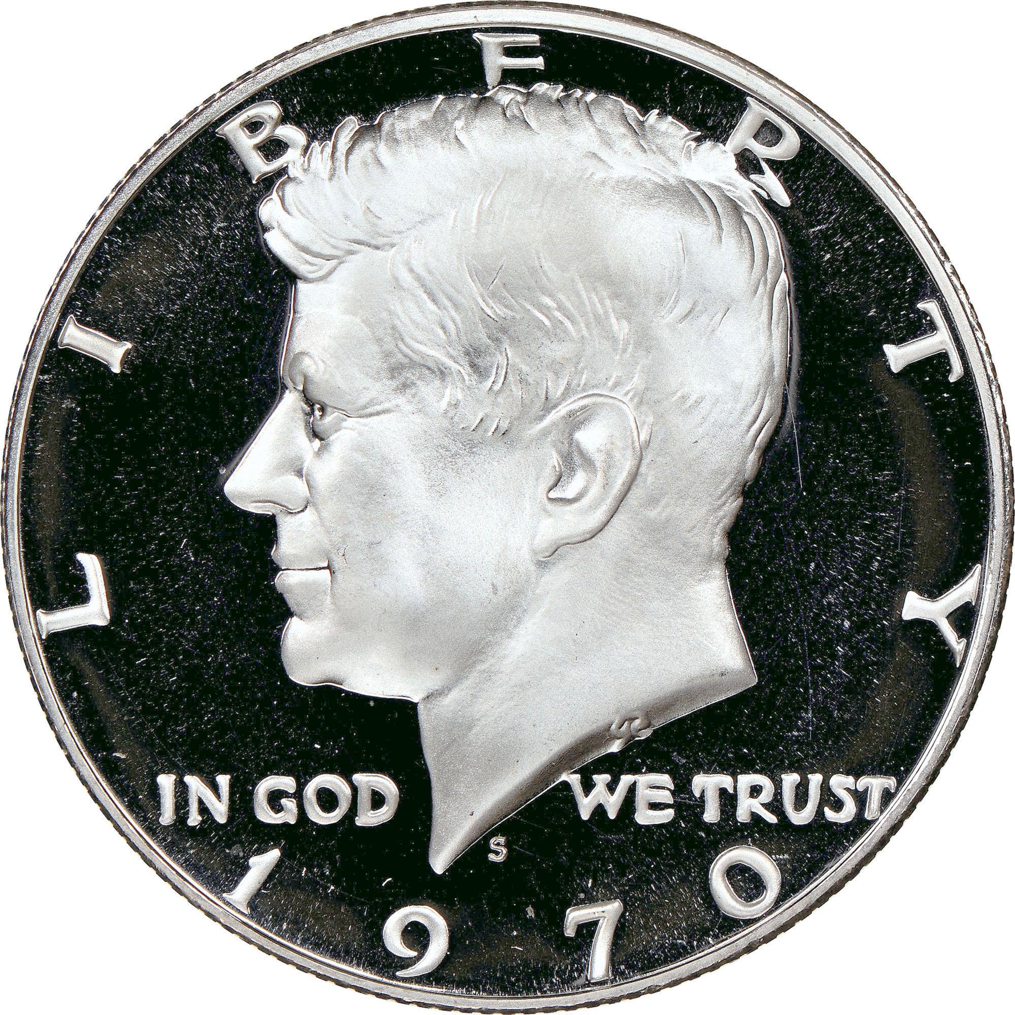 1970 S 50c Proof Kennedy Half Dollar NGC PF 69 Cameo