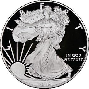 2019 S Eagle S$1 PF obverse