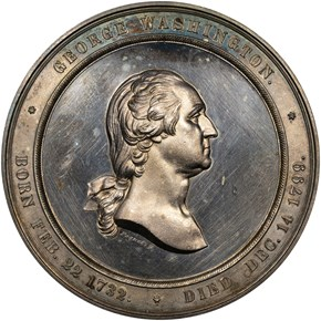 1860-DATED J-MT-23 AR MINT CABINET MEDAL 60mm MS obverse
