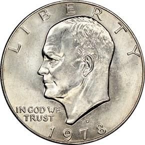 1978 D $1 MS obverse