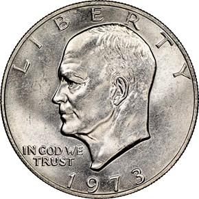 1973 $1 MS obverse