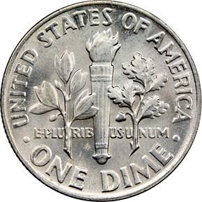1964 10C MS reverse
