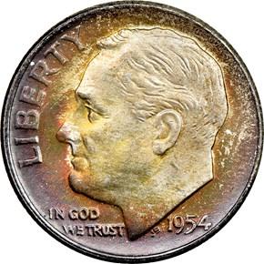 1954 D 10C MS obverse