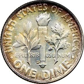 1954 D 10C MS reverse