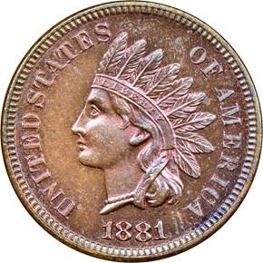 1881 1C PF obverse