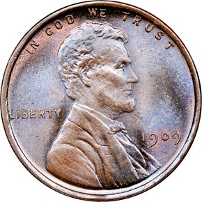 1909 LINCOLN 1C MS obverse