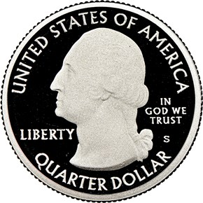 2019 S Clad Lowell Historical Park 25C PF obverse