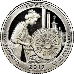 2019 S Clad Lowell Historical Park 25C PF reverse