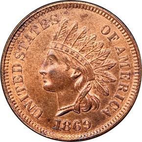 1869 1C MS obverse