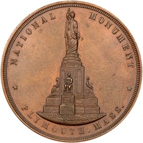 1889 MA HK-148A NATIONAL MONUMENT, BRONZE SC$1 MS obverse