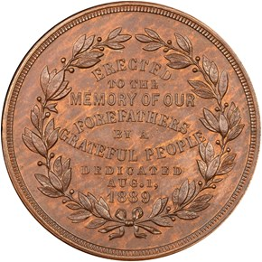 1889 MA HK-148A NATIONAL MONUMENT, BRONZE SC$1 MS reverse