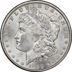 1900 O $1 MS obverse