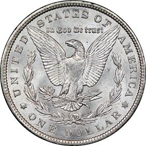 1900 O $1 MS reverse