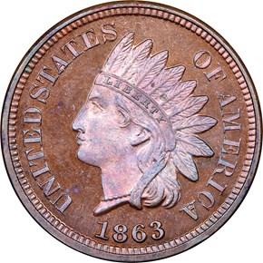 1863 J-299 1C PF obverse