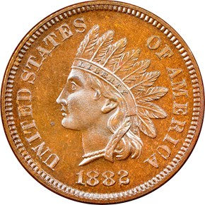 1882 1C PF obverse