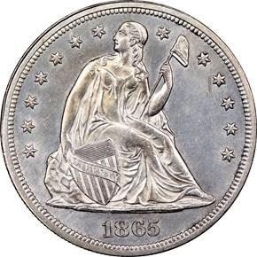 1865 $1 MS obverse