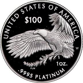 """2019 W Eagle """"Liberty"""" P$100 PF reverse"""
